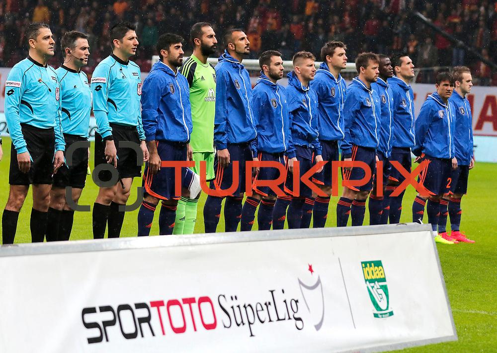 Istanbul Basaksehir's players during their Turkish Super League soccer match Galatasaray between Istanbul Basaksehir at the AliSamiYen Spor Kompleksi TT Arena at Seyrantepe in Istanbul Turkey on Saturday, 14 March 2015. Photo by Aykut AKICI/TURKPIX