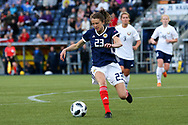 Lizzie Arnot (#23) of Scotland controls the ball inside the penalty area during the FIFA Women's World Cup UEFA Qualifier match between Scotland Women and Belarus Women at Falkirk Stadium, Falkirk, Scotland on 7 June 2018. Picture by Craig Doyle.