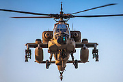 Israeli Air force (IAF) Boeing Apache AH-64A (Peten) Helicopter in flight