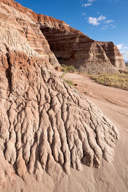 Eroded badlands in the desert of Southern Utah.