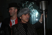 """Phil Dirtbox and Kevin Rowland. Official Pre-Brit Awards 2005 Pool Tournament"""" at The Sanderson Hotel February 8, 2005 in London. The party is hosted by Esquire Magazine ONE TIME USE ONLY - DO NOT ARCHIVE  © Copyright Photograph by Dafydd Jones 66 Stockwell Park Rd. London SW9 0DA Tel 020 7733 0108 www.dafjones.com"""