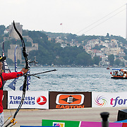DAI Xiaoxiang (CHN) competes in Archery World Cup Final in Istanbul, Turkey, Sunday, September 25, 2011. (AP Photo/TURKPIX)