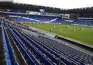a general view of the empty seats during  The Emirates FA Cup, 3rd round match, Cardiff city v Fulham at the Cardiff city stadium in Cardiff, South Wales on Sunday 8th January 2017.<br /> pic by Andrew Orchard, Andrew Orchard sports photography.