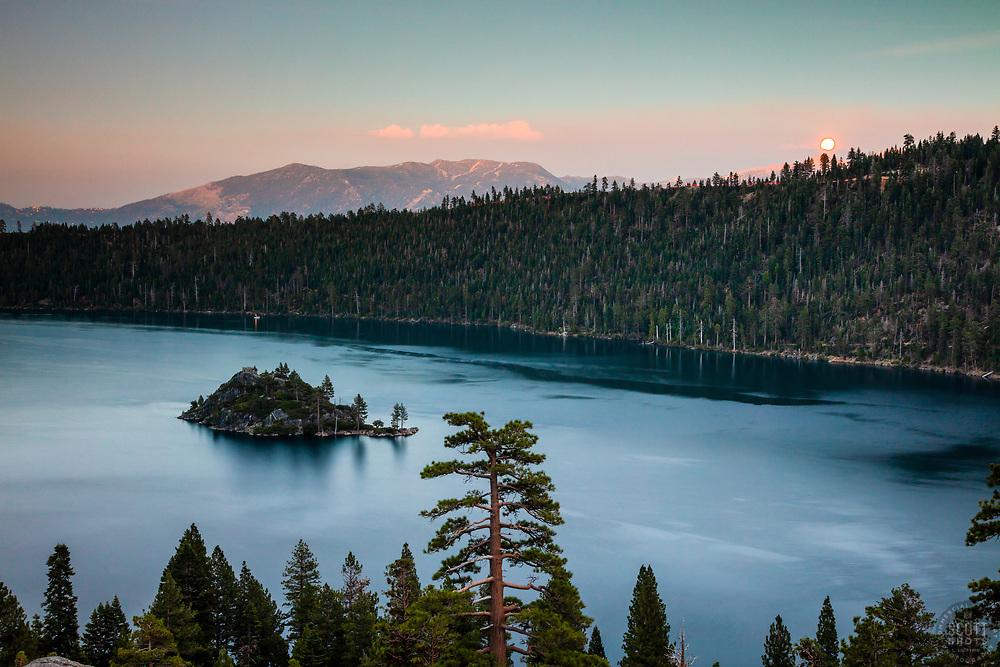 """Emerald Bay Sunset 5"" - Photograph of Emerald Bay, Lake Tahoe at sunset."