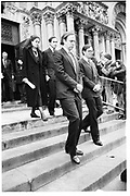 (L-R).Mora Forbes, Christopher Forbes, Robert Forbes , Timothy Forbes at Malcolm Forbes memorial service. 1st march 1990© Copyright Photograph by Dafydd Jones 66 Stockwell Park Rd. London SW9 0DA Tel 020 7733 0108 www.dafjones.com