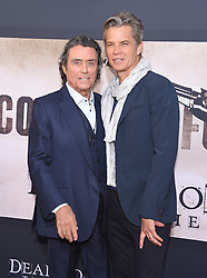 May 14, 2019 - Hollywood, California, U.S. - Ian McShane and Timothy Olyphant arrives for the premiere of HBO's 'Deadwood' Movie at the Cinerama Dome theater. (Credit Image: © Lisa O'Connor/ZUMA Wire)