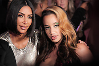 Kim Kardashian and Dascha Polanco attend Klarna STYLE360 NYFW Hosts S by Serena Fashion Show