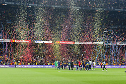 May 6, 2018 - Barcelona, Catalonia, Spain - FC Barcelona players celebrate the victory on the Liga Santander championship during the match between FC Barcelona v Real Madrid, for the round 36 of the Liga Santander, played at Camp nou  on 6th May 2018 in Barcelona, Spain. (Credit Image: © Urbanandsport/NurPhoto via ZUMA Press)