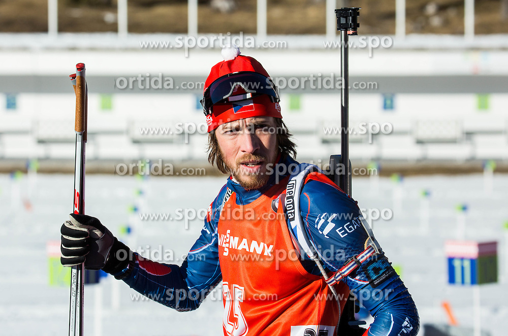 Jaroslav Soukup (CZE) during Men 12,5 km Pursuit at day 3 of IBU Biathlon World Cup 2015/16 Pokljuka, on December 19, 2015 in Rudno polje, Pokljuka, Slovenia. Photo by Vid Ponikvar / Sportida