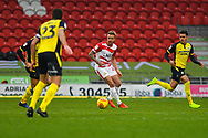 James Coppinger of Doncaster Rovers (26) in action during the EFL Sky Bet League 1 match between Doncaster Rovers and Scunthorpe United at the Keepmoat Stadium, Doncaster, England on 15 December 2018.