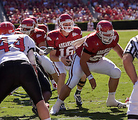 Arkansas Razorbacks vs Southeastern Missouri State at Reynolds Stadium in Fayetteville, Arkansas on October 14, 2006.  Arkansas wins 63 to 7.University of Arkansas Razorback 2006 Football team....©Wesley Hitt.All Rights Reserved.501-258-0920.