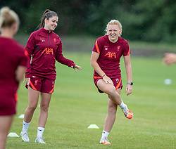 WALLASEY, ENGLAND - Wednesday, July 28, 2021: Liverpool's Carla Humphrey (L) and Ceri Holland during a training session at The Campus as the team prepare for the start of the new 2021/22 season. (Pic by David Rawcliffe/Propaganda)