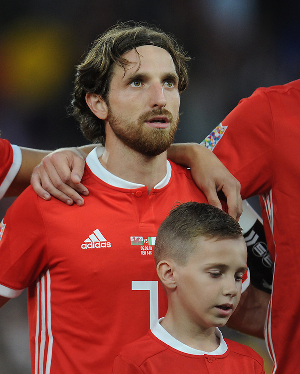 Wales' Joe Allen<br /> <br /> Photographer Kevin Barnes/CameraSport<br /> <br /> UEFA Nations League - Group Stage - League B - Group 4 - Wales v Republic of Ireland - Thursday September 6th 2018 - Cardiff City Stadium - Cardiff<br /> <br /> World Copyright © 2018 CameraSport. All rights reserved. 43 Linden Ave. Countesthorpe. Leicester. England. LE8 5PG - Tel: +44 (0) 116 277 4147 - admin@camerasport.com - www.camerasport.com