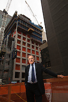 Harry Macklowe, developer and builder of the new ultra luxury residential building currently underway at 432 Park Ave in New York. ..(Photo by Robert Caplin).