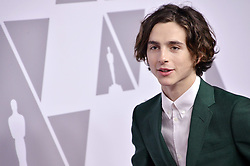Timothée Chalamet  arrives at the 90th Annual Academy Awards Nominee Luncheon held at the Beverly Hilton in Beverly Hills, CA on Monday, February 5, 2018. (Photo By Sthanlee B. Mirador/Sipa USA)