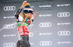 Winner SHIFFRIN Mikaela of USA celebrates  during Trophy ceremony after the 7th Ladies'  Slalom at 55th Golden Fox - Maribor of Audi FIS Ski World Cup 2018/19, on February 2, 2019 in Pohorje, Maribor, Slovenia. Photo by Matic Ritonja / Sportida