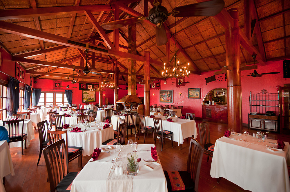 Beautiful Dining Room of the Victoria Sapa Hotel, Sapa, Vietnam