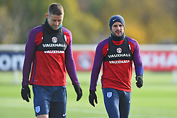 November 13, 2017 - Enfield, Greater London, United Kingdom - England's Kyle Walker and Gary Cahill during a England training session ahead of the International Friendly match against Brazil at Tottenham Hotspur Training centre on 13 Nov , 2017 in Enfield, England. (Credit Image: © Kieran Galvin/NurPhoto via ZUMA Press)