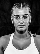 BOXEN / MMA: Studio, Portrait of a Boxer, Bremen, 12.05.2018<br /> Dominika Polska<br /> © Torsten Helmke