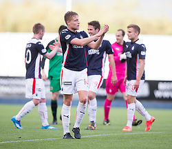 Falkirk's Peter Grant at the end of the game.<br /> Falkirk 2 v 1 Alloa Athletic, Scottish Championship game played 4/10/2014 at The Falkirk Stadium.