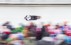 20.02.2016, Olympiaeisbahn Igls, Innsbruck, AUT, FIBT WM, Bob und Skeleton, Damen, Skeleton, 3. Lauf, im Bild Jane Channell (CAN) // Jane Channell of Canada competes during women Skeleton 3rd run of FIBT Bobsleigh and Skeleton World Championships at the Olympiaeisbahn Igls in Innsbruck, Austria on 2016/02/20. EXPA Pictures © 2016, PhotoCredit: EXPA/ Johann Groder