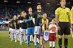 September 19, 2018 - San Jose, California, United States - San Jose, CA - Wednesday September 19, 2018: San Jose Earthquakes, Guram Kashia prior to a Major League Soccer (MLS) match between the San Jose Earthquakes and Atlanta United FC at Avaya Stadium. (Credit Image: © John Todd/ISIPhotos via ZUMA Wire)