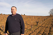 Thierry Rodriguez Domaine Mas Gabinele. Faugeres. Languedoc. Owner winemaker. In the vineyard. France. Europe.