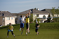 Calgary Ultimate Association League Game<br /> Run Fergus Run vs. Two Bit Huckers<br /> May 28, 2008