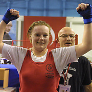 2. WOMEN'S WORLD BOXING CHAMPIONSHIPS.<br /> Denmark's Bettina Karlsen (N) semi final  winner. Dilek Sabanci Sport Hall Antalya/Turkey<br /> Photo by Aykut AKICI/TurkSporFoto