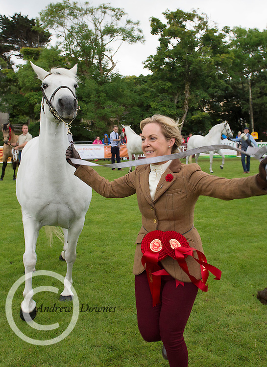 18/08/2016 repro free  Supreme Champion Lackragh Beauty with owner Fiona Grimes from Ballinrobe  at the 93rd annual Connemara Pony show in Clifden Co. Galway. Photo:Andrew Downes, XPOSURE
