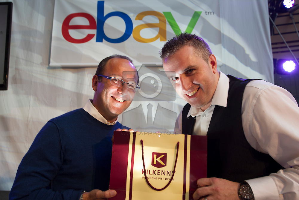 Repro Free: 26/09/2013<br /> Kilkenny today announced it has partnered with eBay, one of the world's largest online marketplaces, allowing Kilkenny to expand into key international markets. Pictured at the announcement was (Left to right) Jean Marc Codsi, Vice President of Customer Experience for eBay Europe with Greg O'Gorman, Kilkenny Marketing Manager. The partnership with eBay is an exciting move for Kilkenny, allowing them to expand into key international markets while opening the brand to a wider target audience. Picture Andres Poveda