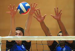 Dejan Vincic and Dos Santos Israel at finals of Slovenian volleyball cup between OK ACH Volley and OK Salonit Anhovo Kanal, on December 27, 2008, in Nova Gorica, Slovenia. ACH Volley won 3:2.(Photo by Vid Ponikvar / SportIda).
