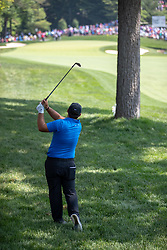June 2, 2018 - Dublin, OH, U.S. - DUBLIN, OH - JUNE 02: Patrick Reed clears a ball from the rough during the third round of the Memorial Tournament at Muirfield Village Golf Club in Dublin, Ohio on June 02, 2018.(Photo by Adam Lacy/Icon Sportswire) (Credit Image: © Adam Lacy/Icon SMI via ZUMA Press)