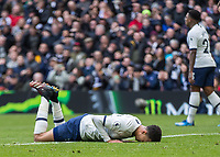 Football - 2019 / 2020 Premier League - Tottenham Hotspur vs. Wolverhampton Wanderers<br /> <br /> Dele Alli (Tottenham FC)  lays flat on his face after his effort is saved easily at The Tottenham Hotspur Stadium.<br /> <br /> COLORSPORT/DANIEL BEARHAM