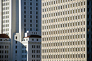 Los Angeles City Hall Buildings Architectural Closeup