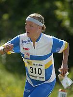Orientering, 21. juni 2002. NM sprint. Marte Balchen, Bækkelaget.