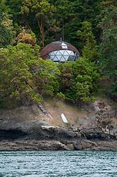 Geodesic Dome Home, Stuart Island, San Juan Islands, Washington, US