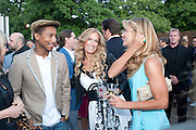 PHARRELL WILLIAMS; LAURA COMFORT; INGA THERON, 2009 Serpentine Gallery Summer party. Sponsored by Canvas TV. Serpentine Gallery Pavilion designed by Kazuyo Sejima and Ryue Nishizawa of SANAA. Kensington Gdns. London. 9 July 2009.