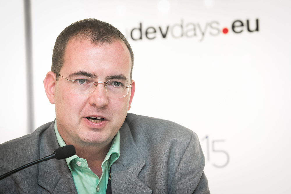 04 June 2015 - Belgium - Brussels - European Development Days - EDD - Climate - A plan for safer water supplies and sanitation in Africa - Günter Langergraber , <br /> Professor at the Institute for Sanitary Engineering and Water Pollution Control, Universität für Bodenkultur Wien (Austria) and coordinator of the FP7 CLARA project © European Union