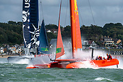 Race Day. Event 4 Season 1 SailGP event in Cowes, Isle of Wight, England, United Kingdom. 11 August 2019: Photo Chris Cameron for SailGP. Handout image supplied by SailGP