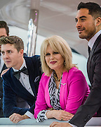 Joanna Lumley opens the Sunseeker stand alond with singing quartet Jack Black (pictured) - The London Boat Show opens at the Excel centre. London 06 Jan 2017 Joanna Lumley,aboard the new 66, opens the Sunseeker stand alond with singing quartet Jack Pack (pictured) - The London Boat Show opens at the Excel centre. London 06 Jan 2017