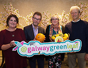 Repro free: 'Celebrating Galway City's Community Gardens at the Harvest Celebration Seminar in the Harbour Hotel were  Dee Sewell, Greenside Up & Community Gardens Ireland, Dr Colin Sage, University College Cork & Cork Food Policy Council, Catherine McDonnell, Volunteer, Ballybane Community Garden and  Charles Dowding, proponent of 'No Dig' gardening, regular guest on BBC radio & television.<br /> <br /> This event was organised by European Green Leaf, Galway City Council, in conjunction with Let's Get Galway Growing, Galway City Partnership, Healthy Cities and European Region of Gastronomy'.<br /> Photo:Andrew Downes
