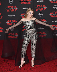 "©AXELLE/BAUER-GRIFFIN.COM World Premiere of ""Star Wars: The Last Jedi"". Shrine Auditorium, Los Angeles, CA. EVENT December 9, 2017. 09 Dec 2017 Pictured: Meg Donnelly. Photo credit: AXELLE/BAUER-GRIFFIN/MEGA TheMegaAgency.com +1 888 505 6342"