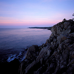 """Cutler, ME. The """"Bold Coast"""" - Bay of Fundy.  View from the Coastal Trail at sunrise."""