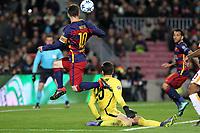 Il gol del 2-0 di Lionel Messi Barcelona<br /> Goal Celebration Lionel Messi Barcelona<br /> Barcelona 24-11-2015 Stadio Camp Nou<br /> Football Calcio Champions League 2015/2016 <br /> Group Stage - Group E Barcelona - As Roma /  Barcellona - As Roma<br /> Foto Luca Pagliaricci / Insidefoto