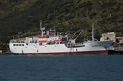 MAURITIUS PORT LOUIS 21APR13 - Longline fishing vessel Shandrani in Port Louis, Mauritius.<br /> <br /> <br /> <br /> The Greenpeace ship Esperanza is on patrol documenting fishing activities in the Indian Ocean.<br /> <br /> <br /> <br /> jre/Photo by Jiri Rezac / Greenpeace