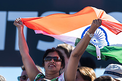 supporter of India during the Champions Trophy finale between the Australia and India on the fields of BH&BC Breda on Juli 1, 2018 in Breda, the Netherlands.