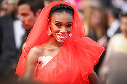 """Winnie Harlow attends the screening of """"Once Upon A Time In Hollywood"""" during the 72nd annual Cannes Film Festival on May 21, 2019 in Cannes, France. Photo by Shootpix/ABACAPRESS.COM"""