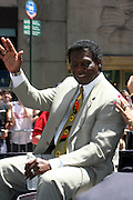Lou Brock at the Major League Baseball All-Stars and 49 Hall of Famers ride up Sixth Avenue in All Star-Game Red Carpet Parade Presented by Chevy on July 15, 2008