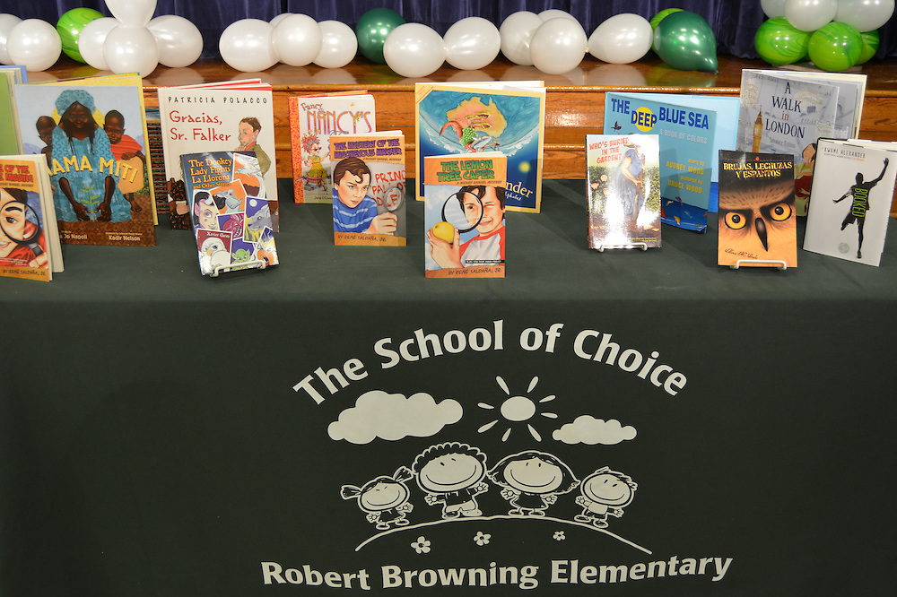 A new initiative of the Barbara Bush Houston Literacy Foundation called My Home Library kicked off Jan. 17, 2017, at Browning ES. Students received six books to take home and keep.